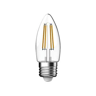 Energizer® LED ES (E27) Candle Filament Non-Dimmable Bulb, Warm White 470 lm 4W
