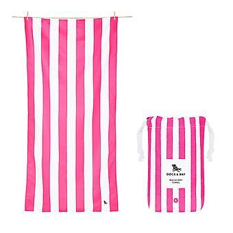 Dock & bay quick dry towel - cabana - phi phi pink