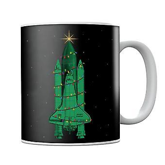 NASA Challenger Shuttle Christmas Tree Mug