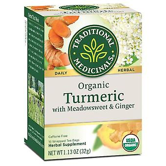 Traditional Medicinals Teas Organic Tea, Turmeric with Meadowsweet & Ginger 16 Bags