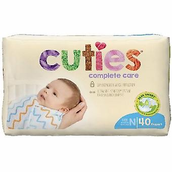 First Quality Unisex Baby Diaper Cuties Complete Care Tab Closure Size 0 Disposable Heavy Absorbency, Case of 160