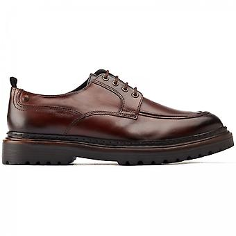 Base London Rene Mens Leather Derby Shoes Brown