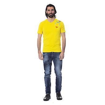 Frankie Morello Giallo Yellow Summer Print T-shirt