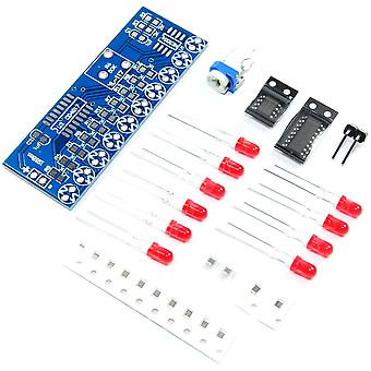 NE555 CD4017 Scrolling Red Light SMD DIY Kit