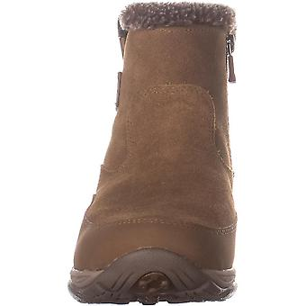 Easy Spirit Womens Excel8 Faux Fur Closed Toe Ankle Cold Weather Boots