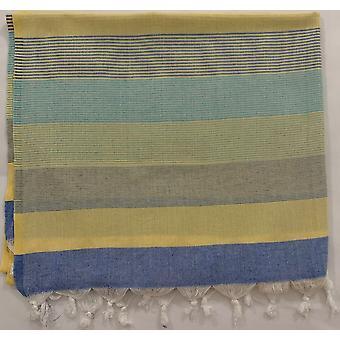 Aqua Perla Estival Turkish Towel Yellow Peshtemal Cotton
