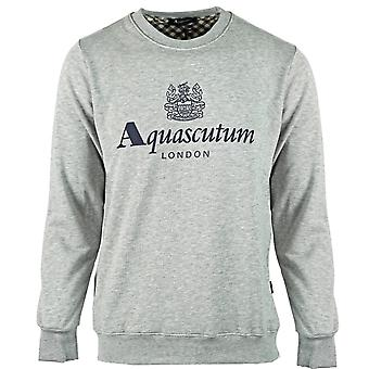 Aquascutum Waterfield Logo Grey Sweatshirt