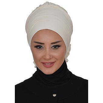 Monica - Brown Cotton Turban - Ayse Turban
