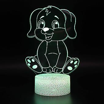 3D Touch Light Night 7 colors with remote control - Chien #815