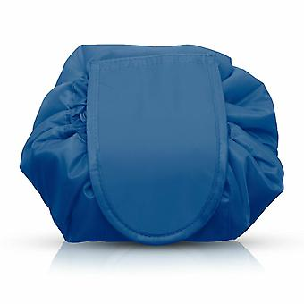 Envie Travel Cosmetic Drawstring Polyester Bag Pouch, Pack of 1, Blue