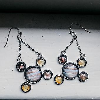 Jupiter og galilæiske måner Dingle Øreringe