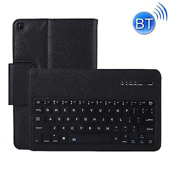 SA510 Detachable Bluetooth Keyboard + Litchi Texture PU Leather Protective Cover with Holder for Galaxy Tab A 10.1 (2019) T510/T515 (Black)
