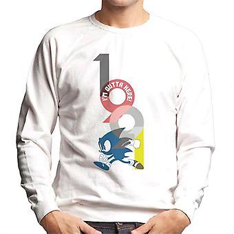 Sonic The Hedgehog Im Outta Here Men's Sweatshirt