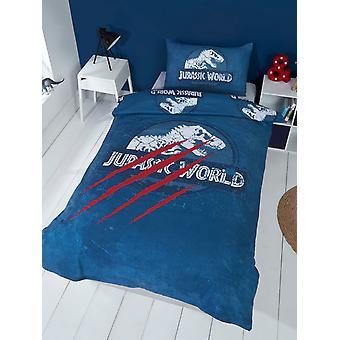 Jurassic World Claws Single Duvet Cover and Pillowcase Set