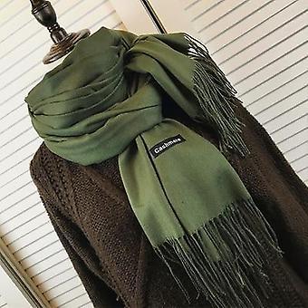 Frauen Kaschmir Schals mit Quaste, Lady Winter Herbst langen Schal, warm halten,