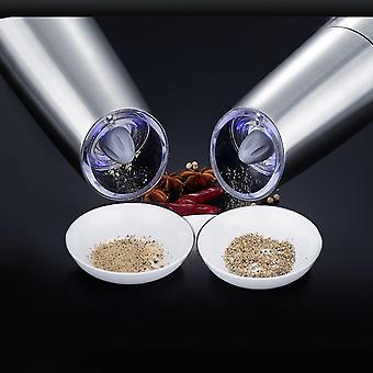 Elektrische automatische Edelstahlmühle Pfeffer und Salzmühle