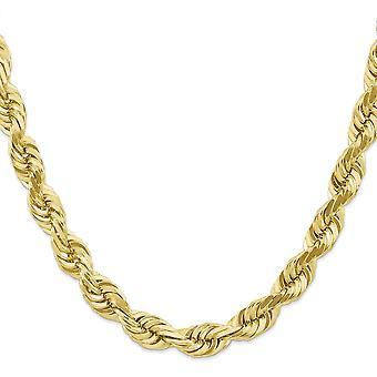 10k žlté zlato pevné 10mm ručne vyrábané Sparkle Cut lanová reťaz Anklet 9 palcový sud spona šperky darčeky pre ženy