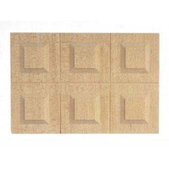 Puppen Haus klassische bare Holz Wainscot 6 angehoben Panels Bauherren Diy 1:12