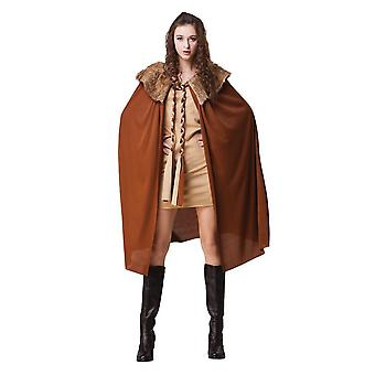 Bristol Novelty Womens/Ladies Brown Plush Collar Cape