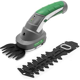 Gracious Gardens 2 IN 1 3.6V Cordless Electric Hedge Trimmer Built in Lithium Ion Battery