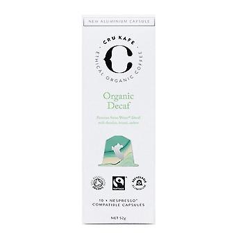 Cru kafe organic decaf coffee capsules   nespresso compatible coffee pods   single origin decaf roas
