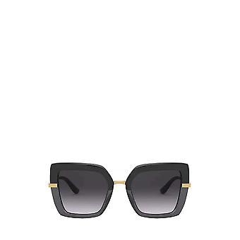 دولتشي آند غابانا DG4373 أسود على نظارات شمسية سوداء شفافة