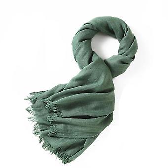 Szalik 180x100 cm bawełna/len Zielony