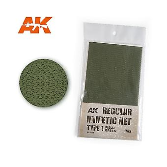 AK Interactive AK8066 Camouflage Net Type 1 Field Green