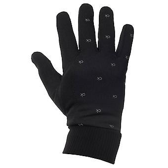 Calvin Klein Mens 2021 Monogram Print Performance Running Gloves