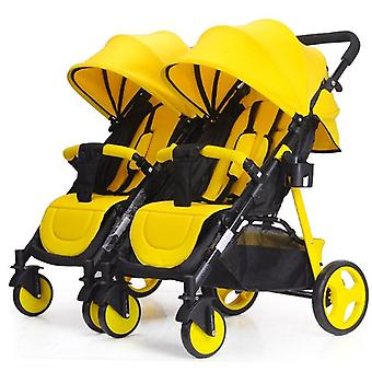 Baby Cart Divided Double Twins Baby Stroller Umbrella Multiple Stroller Flat