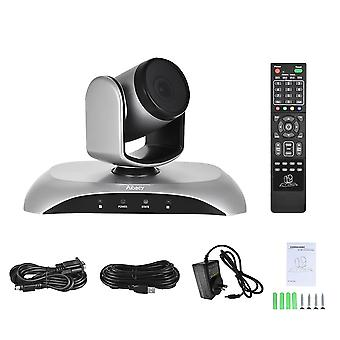 1080p Hd Conference Camera Usb 3x Zoom 360d Rotation Remote Control Power