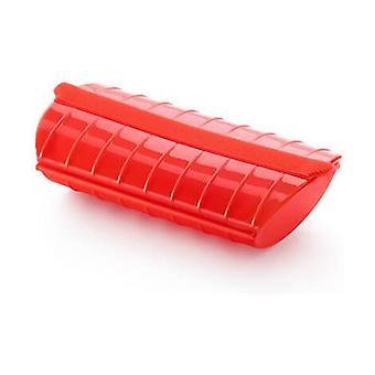 Dampveske med skuff 1-2 personer Rød 240x124x50 mm
