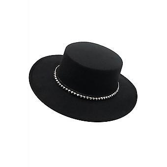 Foxblood Studded Panama Hat