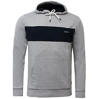 Ben Sherman Mens Panel Hoodie Sweatshirt Jumper Grey 0060889G GRY