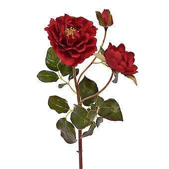Ramo rosa artificial Ruffle 50 cm vermelho