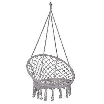 Hängestuhl - Schaukel - grau - mit Seilen - 60x60 cm