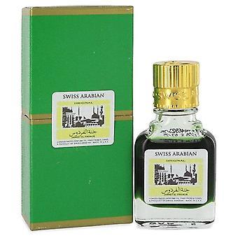 Jannet El Firdaus Tiivistetty Hajuvesi Öljy Alkoholiton (Unisex Green Attar) Sveitsin Arabian 0,3 oz Tiivistetty Hajuvesi Öljy ilman alkoholia
