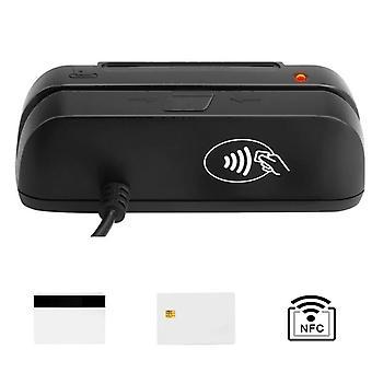 3-i-1 Combo kreditkort, magnetisk emv chip, Rfid Nfc, Reader Writer