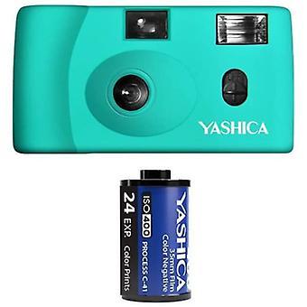 Yashica mf-1 snapshot art 35mm film camera set (turquoise)