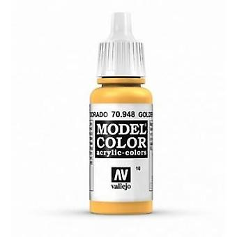 Vallejo Model Color 17ml Acrylic Paint - 948 Golden Yellow