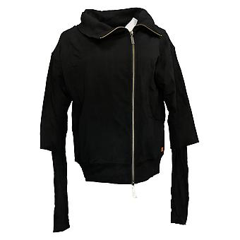 Peace Love World Women's Amal Jacket w/ Asymmetric Zipper Black A301624