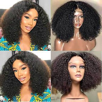 Afro Kinky Curly 4x4 Lace Closure Perruques de cheveux humains