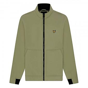Lyle & Scott Funnel Neck Softshell Jacket Moss Green JK1421V