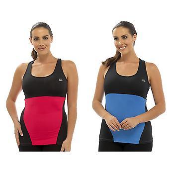 Tom Franks 2Pk κυρίες δύο τόνος αθλητική γυμναστήριο κορυφή μόδας γιλέκο Med-μπλε-ροζ