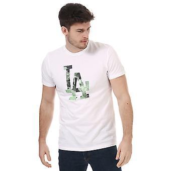 Menns New Era Team Logo Los Angeles Dodgers T-skjorte i hvitt