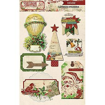My Minds Eye - Vintage Christmas - Layered Stickers