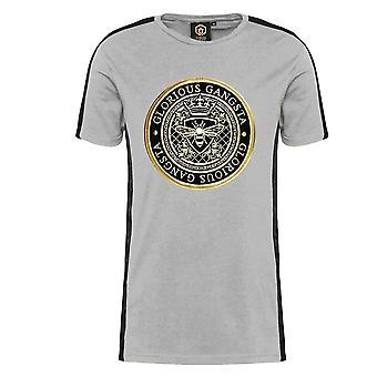 Glorious Gangsta   0390 Donaeo Crest Logo Tape Half Sleeve T-shirt
