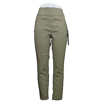 DG2 By Diane Gilman Women's Jeans Stretch Comfort Waist Skinny Green 739778