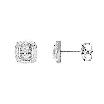 Orecchini in oro bianco e diamanti 0,15 carati -SWEET ILLUSION;
