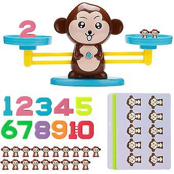 FengChun Montessori Mathe Waage Spielzeug,Affen Balance Spielzeug Tierwaagen,Zhlen und